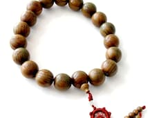 29mm A Grade Green Sandalwood Eighteen Arhats Beads Prayer Mala Car Hanging  T2800