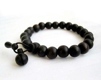 9mm Tibet Buddhist Wood Beads Rosary Japa Mala Meditation Bracelet Wrist  T2676