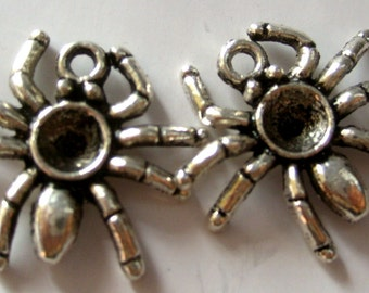 20Pcs Alloy Metal Spider Araneid Pendant Beads Finding  ja180