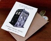 Tardis Time Machine Card