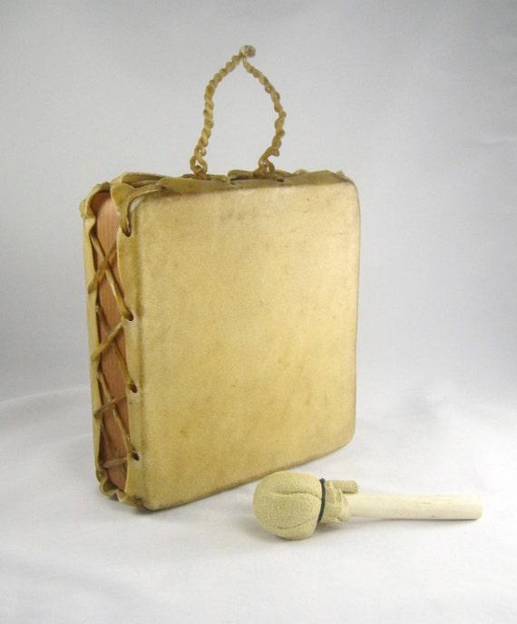DRUM: Authentic Karuk Native American Child's Small Drum