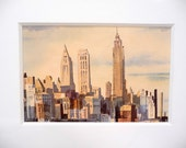 50s Watercolor of New York City