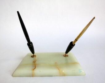 Deco Onyx Pen Holder