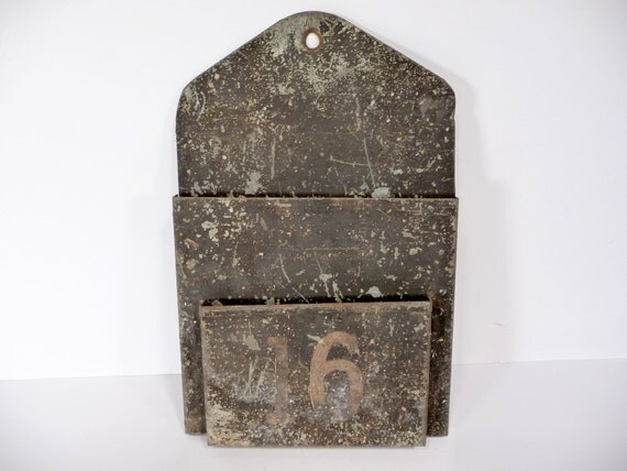 Antique Industrial Envelope Holder Number 16