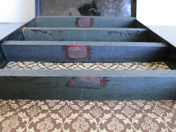 Small Antique Country Storage Box