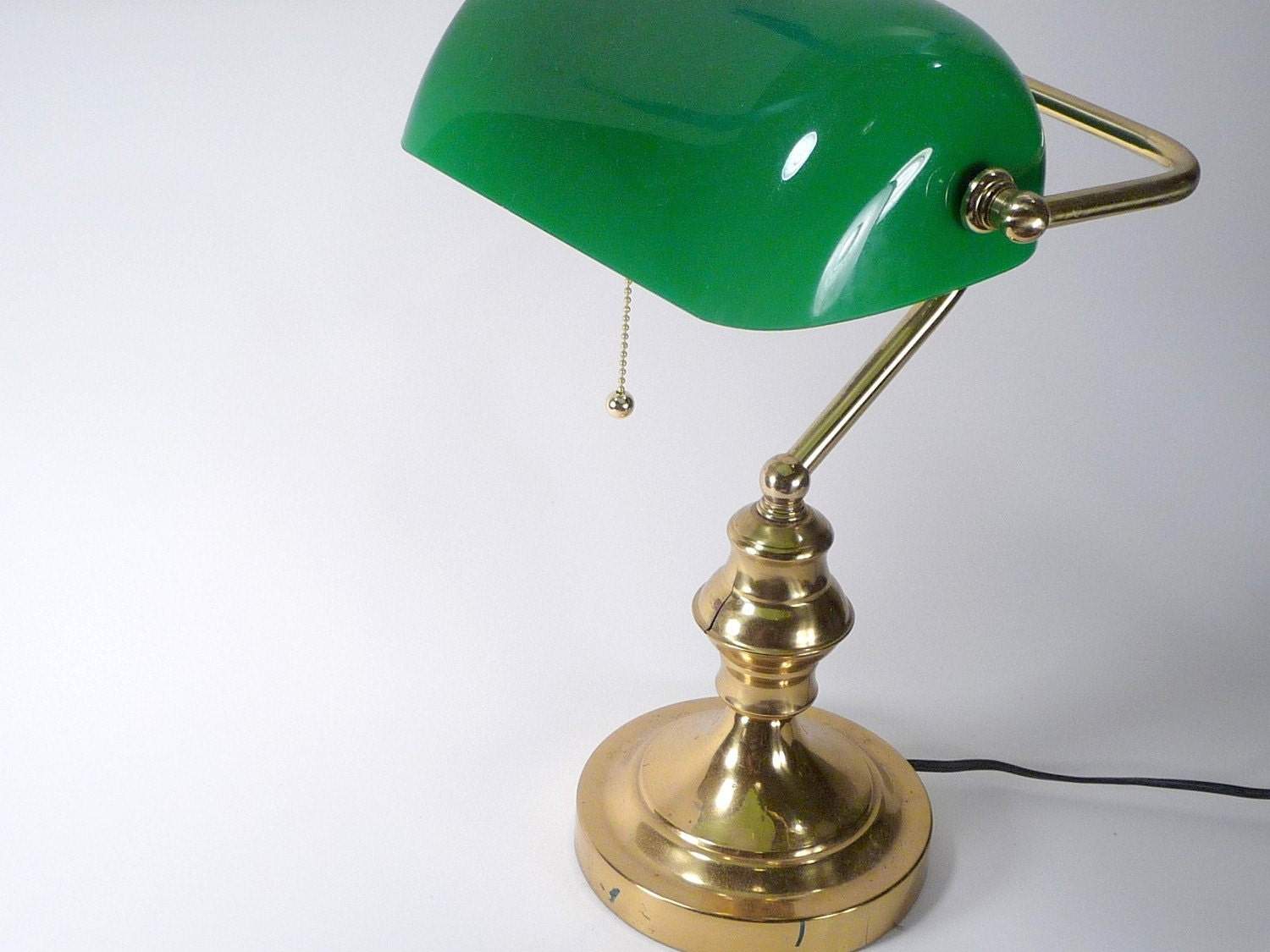 antique brass banker desk lamp. Black Bedroom Furniture Sets. Home Design Ideas