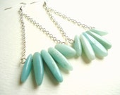 Aventurine Spear Trapeze Style Earrings - The Greatest Of Ease