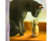 A4 Cat Print - Two cats