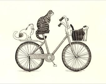 A4 Cat Print - Riders