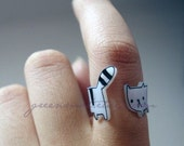 Cute Wrap-around Cat Ring