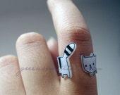 Cute Wrap-around Cat Ring