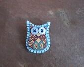 Teeny Tiny Owl Brooch Pin