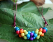 child inspired adjustable necklace with two  acai seeds