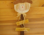primitive scarecrow sign