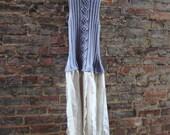 Eco Tattered Dress/ Upcycled Sweater/ Pixie Dress/ Womens Dress/ Raw Hemline