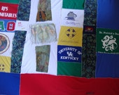 Reserved for Tracey D/ Custom T shirt Quilt/ and Loving Touch Mend for Tattered Dress in Sage