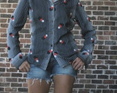 Awesome Navy Seventies Blouse
