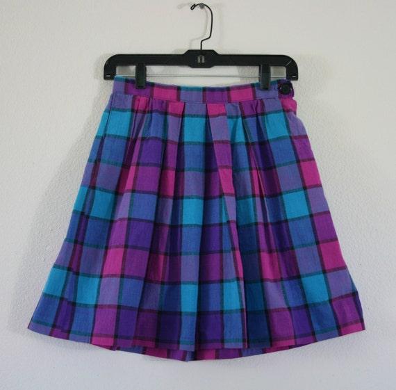 Cutest Women's Knee Length Vintage Plaid Skirt