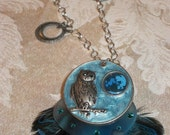 Steampunk Night Owl Necklace