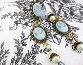 Vintage Inspired Cameo Earrings and Ring Set