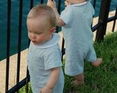 Boys Linen Short Sleeved Boutique Shortalls