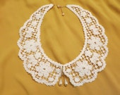 RESERVED Teardrop Pearl Lace Collar Necklace