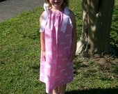 Pink LSU Pillowcase Dress - 25 Inches Long - HANDMADE