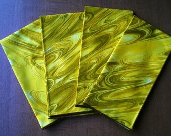 Yellow Swirls 18 Inch Cloth Napkins - Set of 2 - Other Colors Available