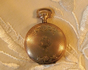 Be Timely... Antique Edwardian Wadsworth Watchcase Locket Never Used