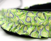 Camera Strap- Key Lime Ruffle (green, yellow, gray)