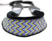 SALE-- SLR Camera Strap- Purple Haze