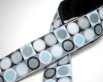 Camera Strap- Gray and Blue