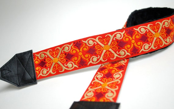 READY TO SHIP - Orange Camera Strap - slr Camera Strap - Photographer Gift - Tangerine Vintage