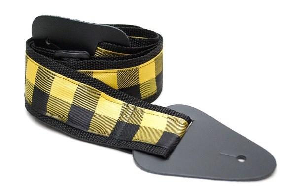 Guitar Strap- Yellow Check