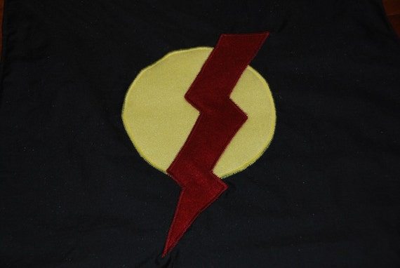 CLEARANCE SALE - Super Hero Cape - Ready to Ship - Lightening Bolt - Monogramming Available