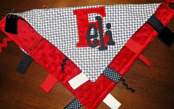 Minky Tag Lovey - You Design - FREE MONOGRAMMING