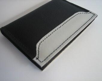 Black & White Bi-fold Wallet