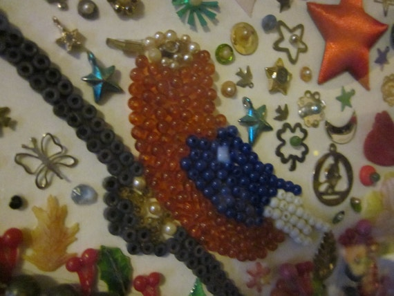 Beaded Bird Collage Picture