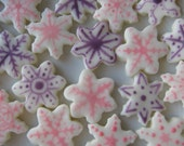 WINTER WONDERLAND SNOWFLAKES - 6 dozen Cream Cheese Mints - Weddings, Holiday Celebrations, New Year's Parties