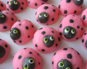 LADYBUG MINTS -  Special Occasions, Weddings, Parties- Cupcake Toppers  - 2 Dozen Cream Cheese Mints