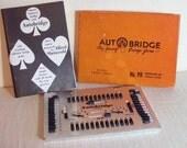 Vintage Bridge Game, Auto Bridge Game 1950s, Mid Century Card Game in Original Box