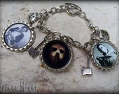 Fright Night Charm Bracelet, Leatherface, Jason, Michael Meyers, Horror Film Classic jewelry