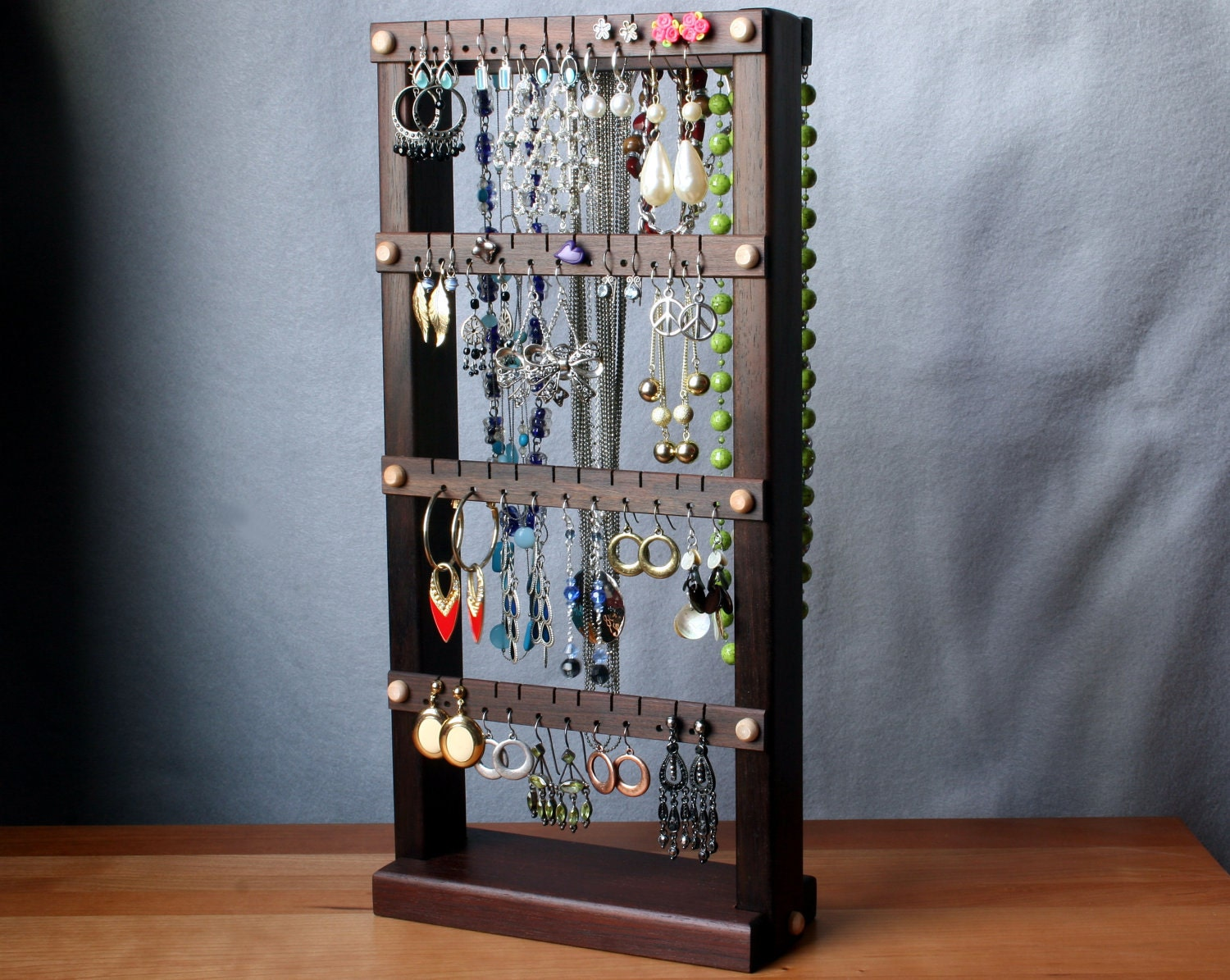 earring holder stand jewelry organizer by tomsearringholders
