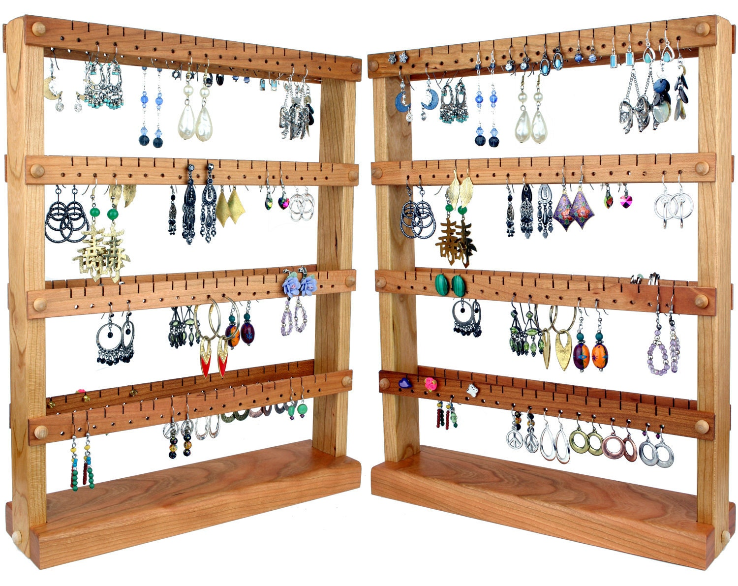 jewelry organizer stand jewelry stand cherry wood. Black Bedroom Furniture Sets. Home Design Ideas