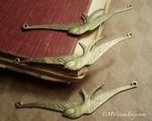 6pcs Antiqued Bronze Big Bracelet Swallow Connector Charm Pendant Drop E43-Rd1c