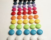50pcs Rainbow Candy Kids Jewelry Lovely Round Acrylic Beads (10 colors, 5 of each) Gv