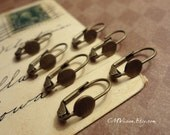 Sale - 20pcs Antiqued Brass French Lever Back Earrings Gz Sb7