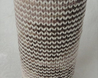 Handknit Organic Cotton Natural Colors Spring Vase