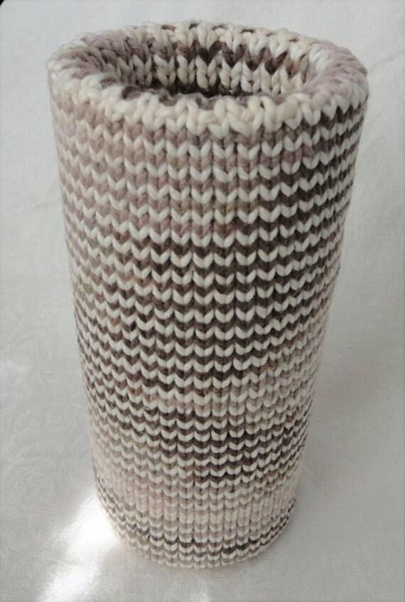 Handknit Organic Cotton Natural Colors Spring Vase
