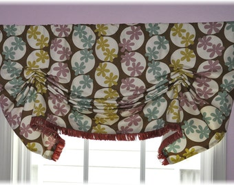 London  Stationary Shades, Valance ready to ship all included in price.